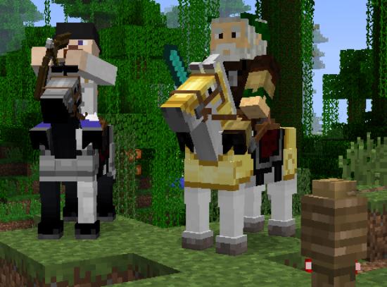 Caballos equipados con armadura en Minecraft