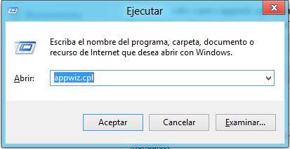 El formulario Ejecutar se muestra con la combinación de las teclas Windows+R