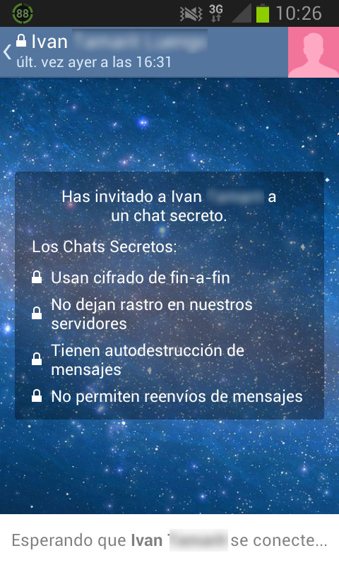 Captura de chat secreto