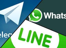 ¿Cuál es la mejor app de mensajería: WhatsApp, Telegram o LINE? - Infografía en milbits