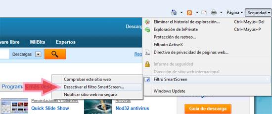 Desactivar-Smartscreen
