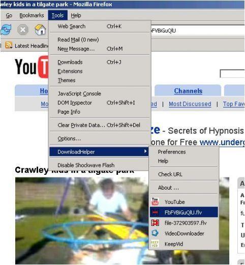 DownloadHelper  descargar contenidos con un sólo clic desde cualquier web