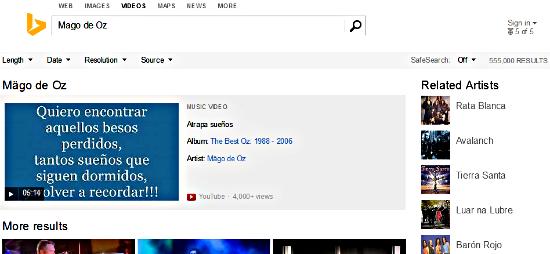 Buscar música Bing