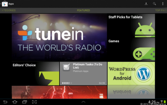 Google Play en tablet Android