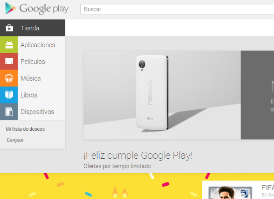 Web de Google Play