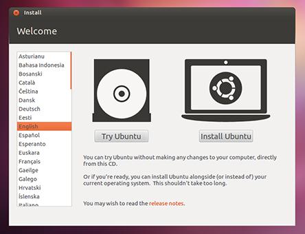 Probar o instalar Ubuntu