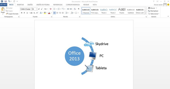 Microsoft Office 2013 cuenta con integracion multimedia