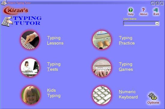 Descarga Kiran's-typing-tutor para aprender mecanografía