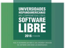 Las universidades hispanoamericanas que más apoyan el software libre en 2016 en milbits