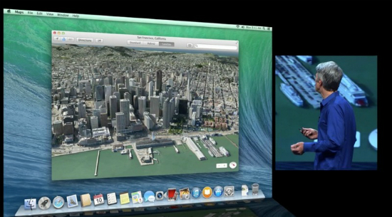 Mapas de Apple integrados en OS X Mavericks