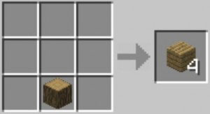Minecraft crear madera