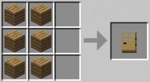 Minecraft puerta madera