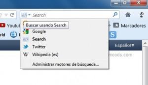 Motores busqueda Firefox