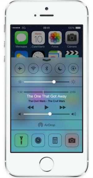 Nuevo Centro de Control en iOS 7