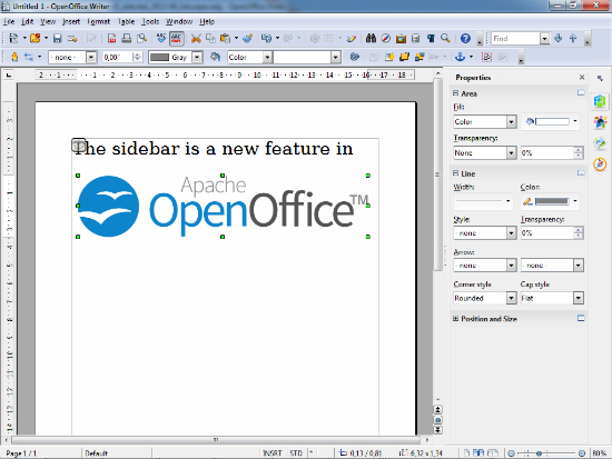 Captura de OpenOffice 4.0