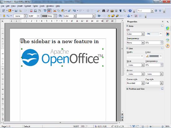 Captura de OpenOffice 4.0