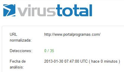 PortalProgramas.com esta libre de virus