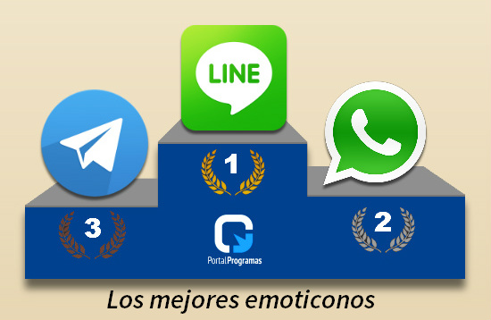 Emoticonos y sonidos en WhatsApp, Telegram y LINE