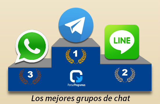 Grupos de chat en WhatsApp, Telegram y LINE