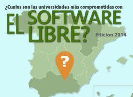 Las mejores universidades españolas en software libre en 2014 en milbits
