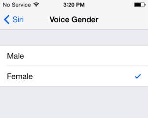 Voz masculina para Siri en iOS 7