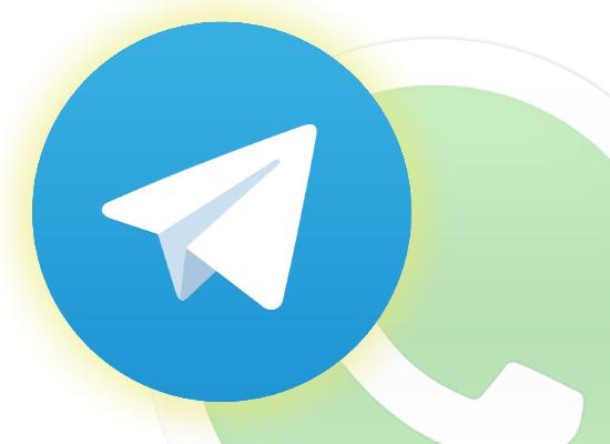 Icono Telegram y WhatsApp