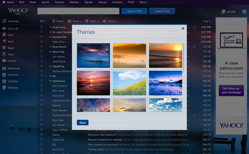 Temas de Yahoo!Mail con Flickr