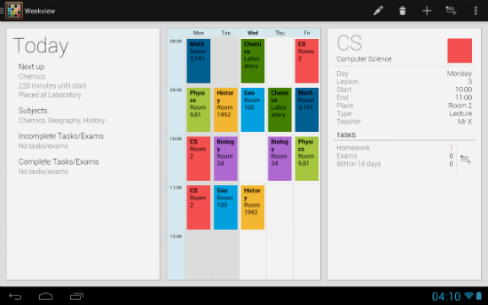 TimeTable para Android
