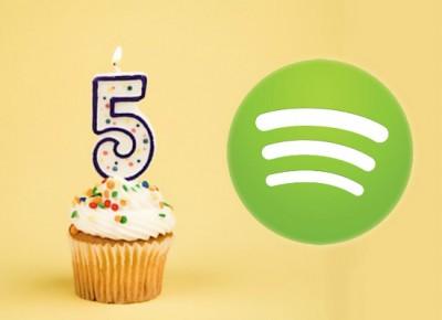 Spotify cumpel 5 años