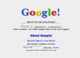Los 15 años de Google en milbits