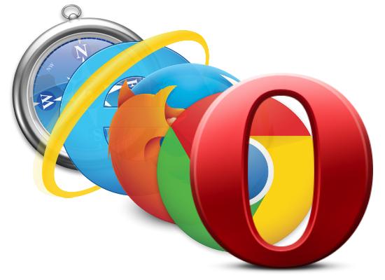 Safari, Internet Explorer, Chrome, Firefox, Opera