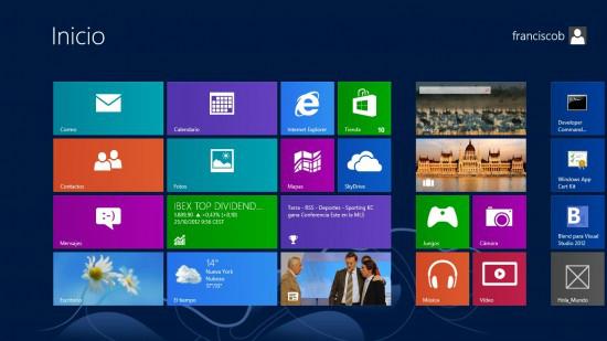 Interfaz Modern UI de Windows 8