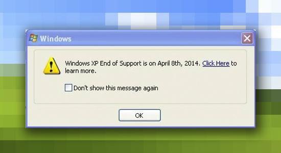 Ventana recordativa fin Windows XP