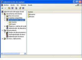 Como eliminar cuentas de usuarios en Windows XP. en milbits