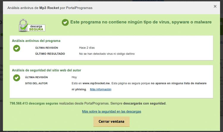 Análisis antivirus de las APKs con 50 motores diferentes