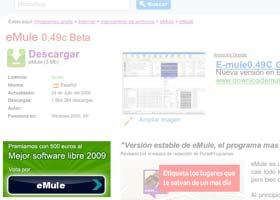 Ejemplo votacion Premios Software Libre - PortalProgramas