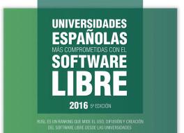 Las universidades españolas más comprometidas con el Software Libre en 2016 en milbits