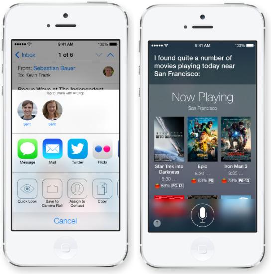El nuevo iOS 7 en acción
