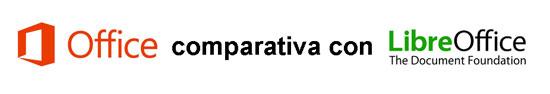 Comparativa Microsoft Office LibreOffice