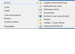 Secretos del menú Enviar a de Windows 7 en milbits
