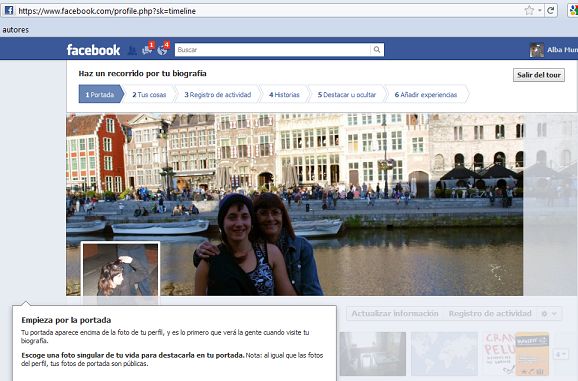 Tour de la nueva interfaz de Facebook