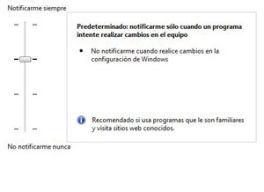Modificar el Control de Cuentas de Usuario (UAC) de Windows 7 en milbits